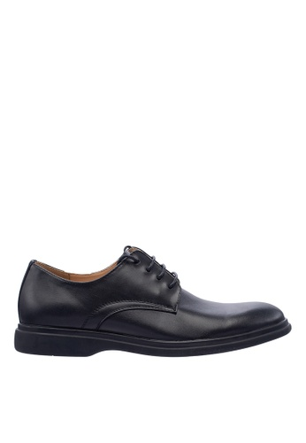 Hush Puppies black Hush Puppies Men's Reston Lace Up Dress Shoe - Black B37D9SHDB9DD9AGS_1
