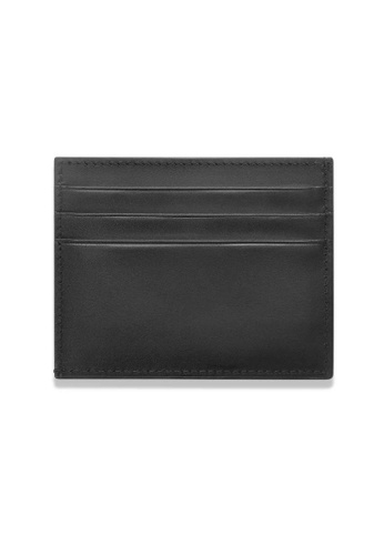 Crudo Leather Craft black Sen'zaltro Credit Card Holder - Vintage Black 44798AC5FEFEEEGS_1