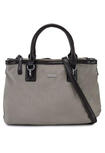 NUVEAU brown Premium Oxford Nylon Convertible Satchel Bag 943E6AC56C6BC8GS_1