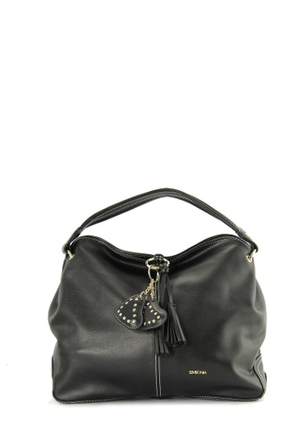 SEMBONIA black SEMBONIA Synthetic Leather Hobo Bag A696FACA3C711AGS_1