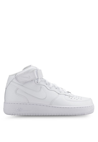 Nike white Women's Nike Air Force 1 Mid '07 LE Shoes NI126SH31YJOMY_1