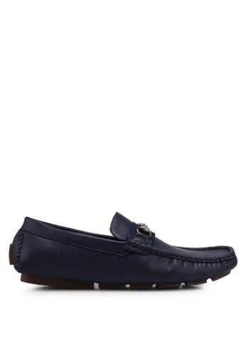 UniqTee blue Loafers with Web and Horsebit B87B5SH68FF43BGS_1