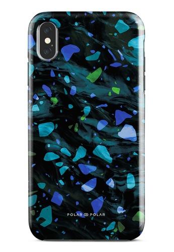 Polar Polar blue Ocean Terrazzo Gem Dual-Layer Tough Case Glossy For iPhone XS Max 021CBACA8361EBGS_1