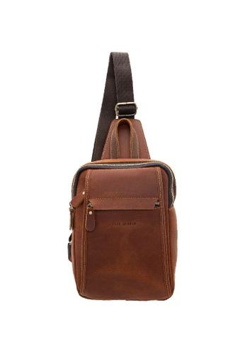 Jack Studio brown Jack Studio Genuine Leather Chestbag Crossbody Bag 0576FAC48AA727GS_1