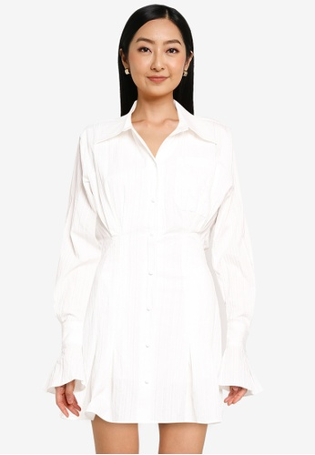 URBAN REVIVO white Shirt Dress 9DF35AA723C9CCGS_1