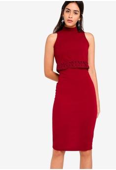 dbc614592ac9 ZALORA red Double Layer Dress with Trim 09B5BAA684A49FGS 1