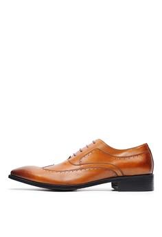 [尊爵皮底]雅痞。全牛皮防滑牛津鞋-04719-棕色