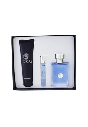 Versace VERSACE - Versace Pour Homme Coffret: Eau De Toilette Spray 100ml/3.4oz + Eau De Toilette Spray 10ml/0.3oz + Hair & Body Shampoo 150ml/5oz 3pcs F78AFBE7E6E613GS_1