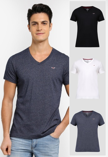 Hollister white Multi Pack V-Neck T-Shirt F692DAA9E30885GS_1