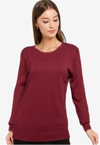 Button On red Women Knitwear 2CD8EAA7D3687EGS_1