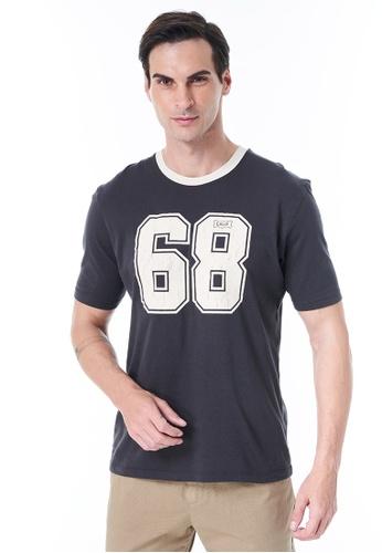 Sisley grey Printed T-shirt 26A49AA465021CGS_1