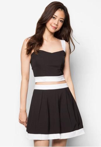 Joy 短版細肩帶esprit台灣短裙套裝, 服飾, 上衣