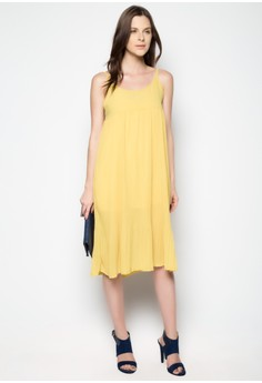 Loose Pleated Long Dress