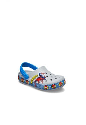 Crocs grey Boy's Fun Lab Spiderman Lights Clog 3FA3BKS947BA04GS_1