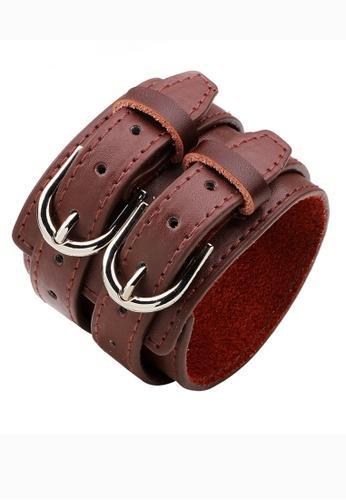 HAPPY FRIDAYS Vintage Leather Double Belt bracelet QNW2300 E74B0AC315A6C7GS_1