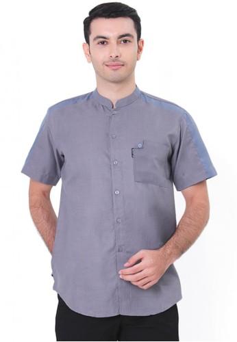 NextUp grey Baju Koko Nextup Lengan Pendek 1311 - Grey 4A399AA045A5A0GS_1
