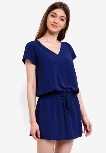 Something Borrowed navy Blouson Mini Dress AF40AAAA15462EGS_1