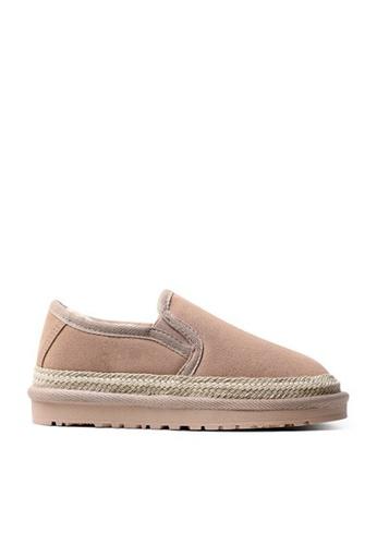 Twenty Eight Shoes beige Cow Suede Linen Ribbon Winter Shoes VC8 698E8SHE0ECC95GS_1