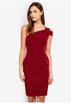 028e97323b Vesper red Fiona One Shoulder Mini Dress 0E815AA90D363EGS 1