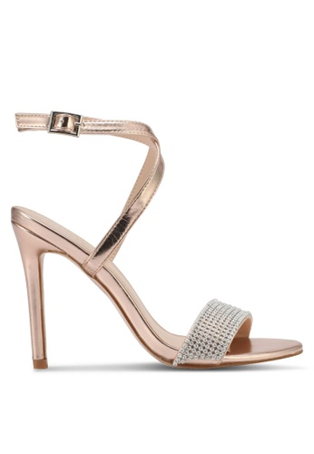 Public Desire gold Belarus Diamante Detail Barely There Heels PU378SH0SIPEMY_1