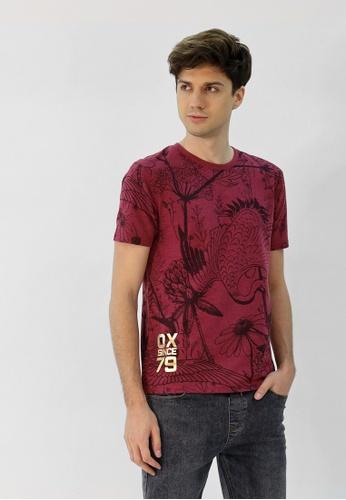 Cheetah red Cheetah CNY Short Sleeve T-Shirt With Print - 98276 C0751AA90EA71BGS_1