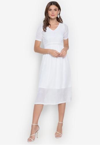 RUESALIDOU white Leah Lace Dress Dress DA327AA6EA44B3GS_1