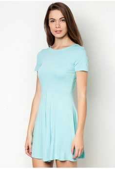 Susan Shortsleeves Knotted Dress