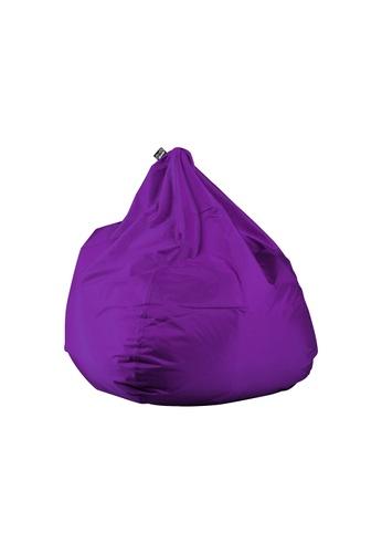 doob purple PLOP - teardrop-shaped spill-proof doob bean bag (Grape Purple) DA093HL88D9BA3GS_1