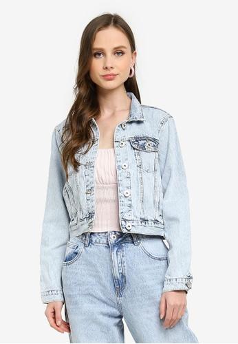 Cotton On blue Girlfriend Denim Jacket FE6CDAACF57903GS_1