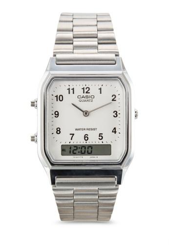 Casio silver Casio Youth Combination AQ-230A-7BHDF Silver/White Analog & Digital Watch CA843AC83XZGMY_1