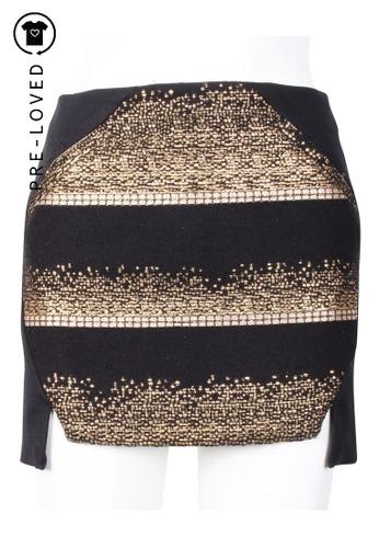 Manning Cartell black Pre-Loved manning cartell Asymmetrical Mini Skirt 4EDB6AAA2D1E7BGS_1