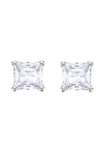 Swarovski silver Attract Stud Pierced Earrings A9903AC2C584DCGS_1