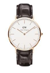 Daniel Wellington brown Classic York-Watch Rose gold 40mm DA376AC15PTOMY_1