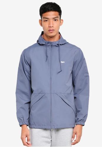 OBEY 藍色 防水連帽夾克外套 225E6AABF88F95GS_1