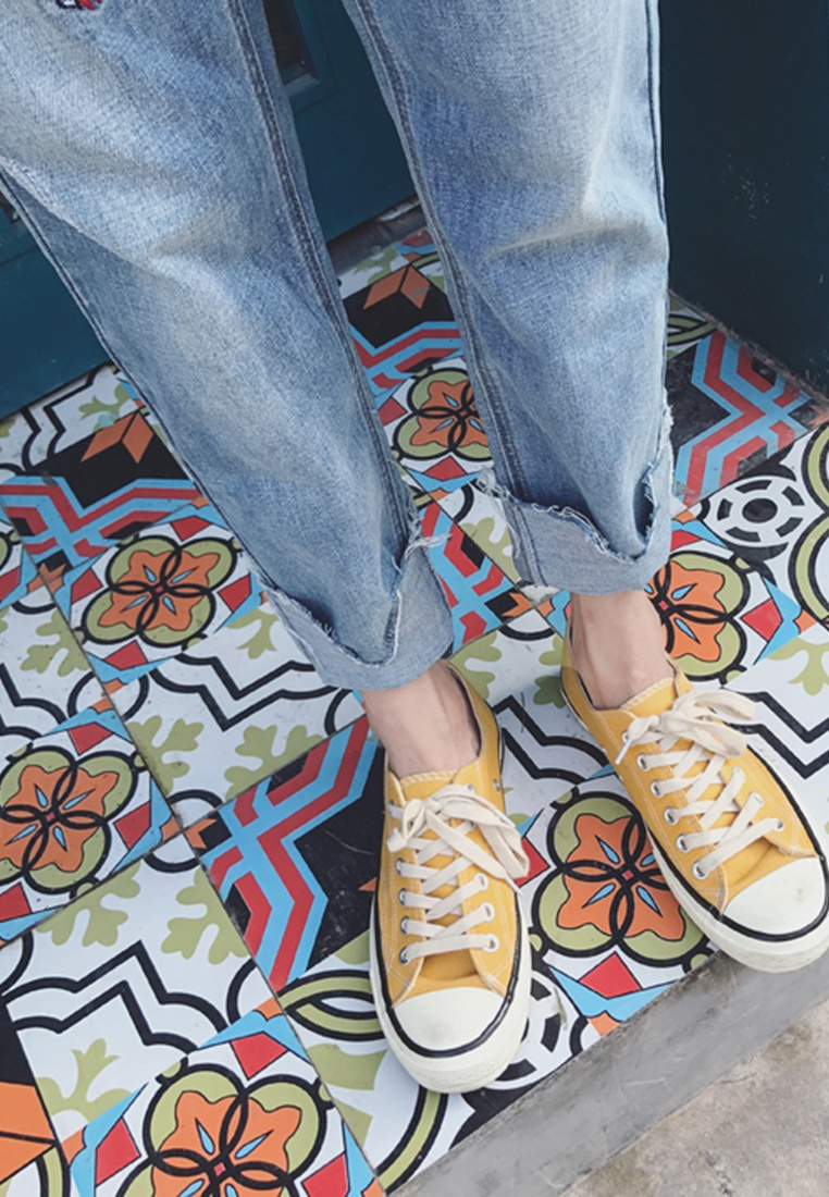 Wash blue Men Embroidery hk Jeans Pattern Light ehunter Denim qw6wZUB