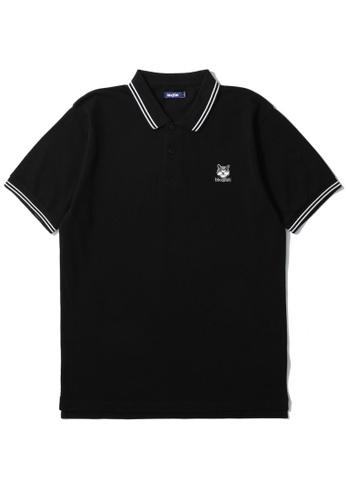 BLOCKAIT black Akita Ken polo shirt D4C46AA335B2A6GS_1