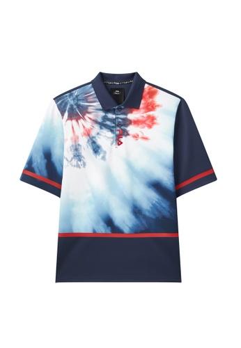 FILA navy FILA x 3.1 Phillip Lim Gradient Color Polo Shirt 90BFAAA2E6A8B1GS_1