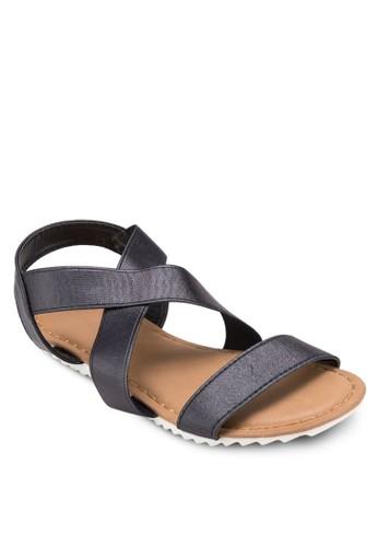 Pottsesprit 香港 彈性交叉踝帶涼鞋, 女鞋, 鞋