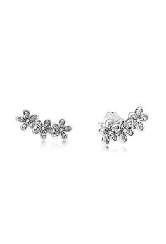 eaca12874 Pandora silver Daisy Silver Stud Earrings With Clear Cubic Zirconia  B2FDDAC86D43CCGS_1