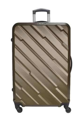 Jean Francois brown Jean Francois 20 inch 4 Wheels Trolley Hard Case - JTH 7905 Coffee 4F7BDAC17B8734GS_1