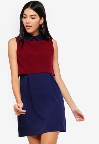 ZALORA red and multi Crop Top Mini Dress 72C50AAB440795GS_1