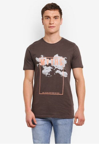 Factorie brown Tagged Tee FA880AA0SAAUMY_1