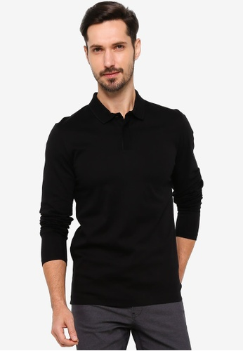 BOSS black T-Palmer 03 Long Sleeve Polo Shirt 7CDA3AAD331A50GS_1