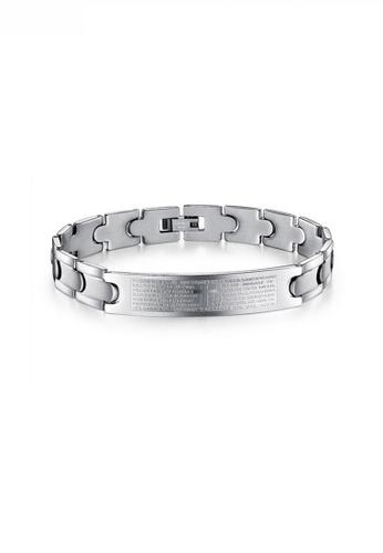 HAPPY FRIDAYS Stylish Cross Lettering Steel Bracelet JW OK-761 1A4BAAC75D93DCGS_1