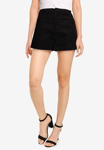 URBAN REVIVO black Casual Shorts 3CA8CAAA62A1D0GS_1