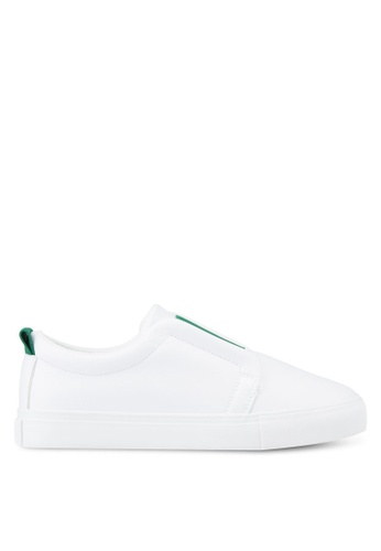 Twenty Eight Shoes white and green Contrast Band Sneakers TW281SH52LTVMY_1