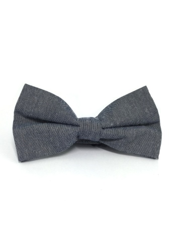 Splice Cufflinks Lucid Series Navy Blue Polyester Fabric Bow Tie SP744AC75QQQSG_1