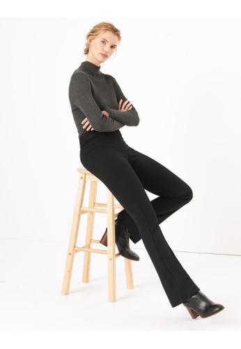 MARKS & SPENCER black M&S Ponte Slim Bootcut Trousers 1577BAA384B098GS_1
