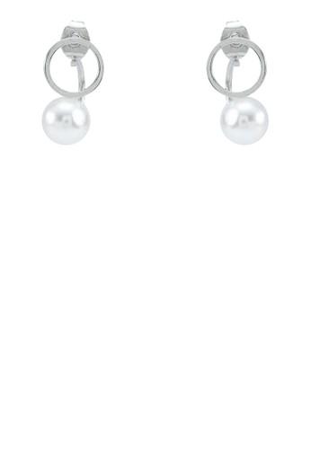 圓環珍珠垂墜耳環, 飾品配esprit sg件, 耳環