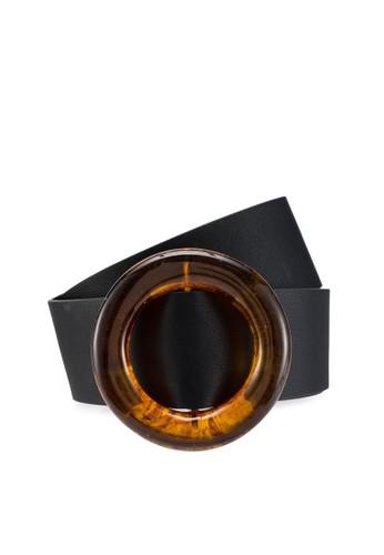 Pieces black Janny Waist Belt B1297ACFDC4F6CGS_1
